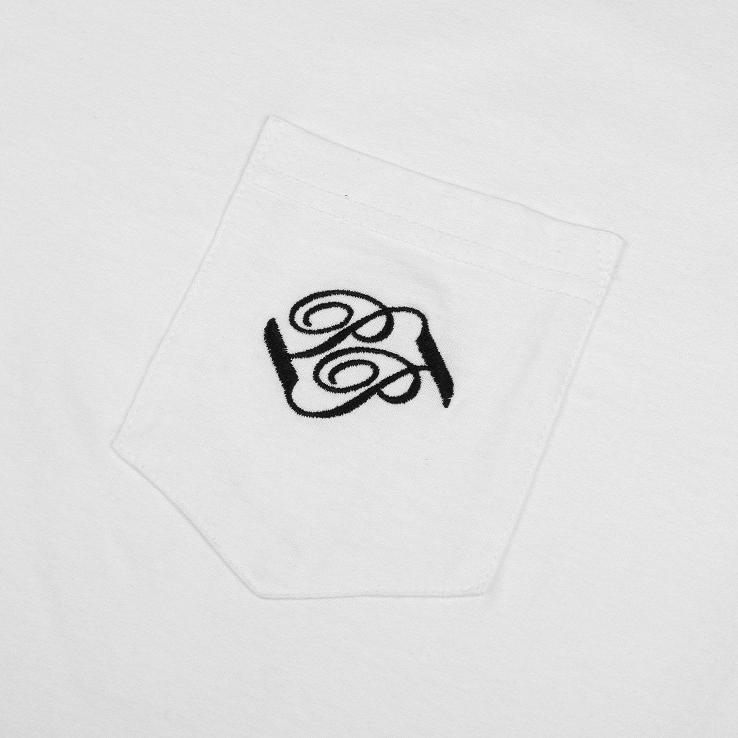 "PASS~PORT ""BANNER"" POCKET TEE WHITE"