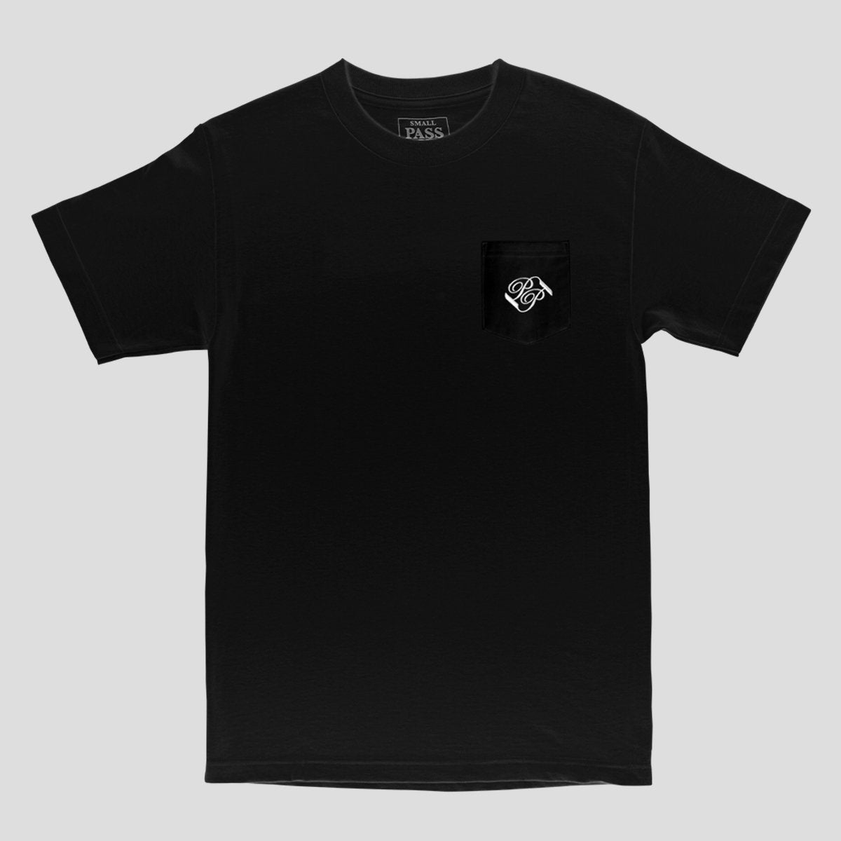 "PASS~PORT ""BANNER"" POCKET TEE BLACK"