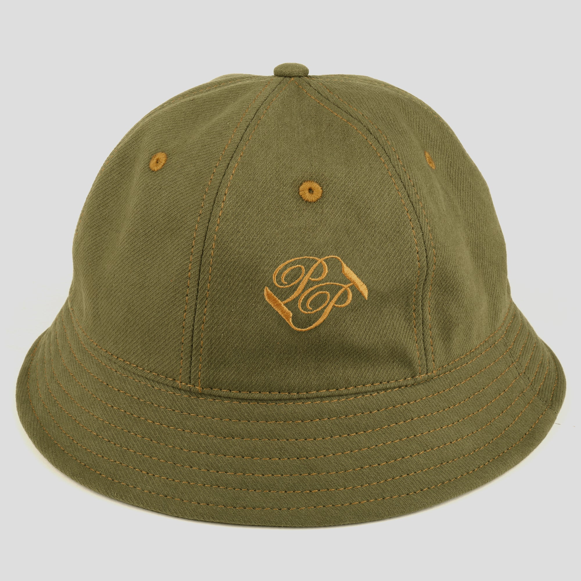 "PASS~PORT ""BANNER"" BUCKET HAT OLIVE"