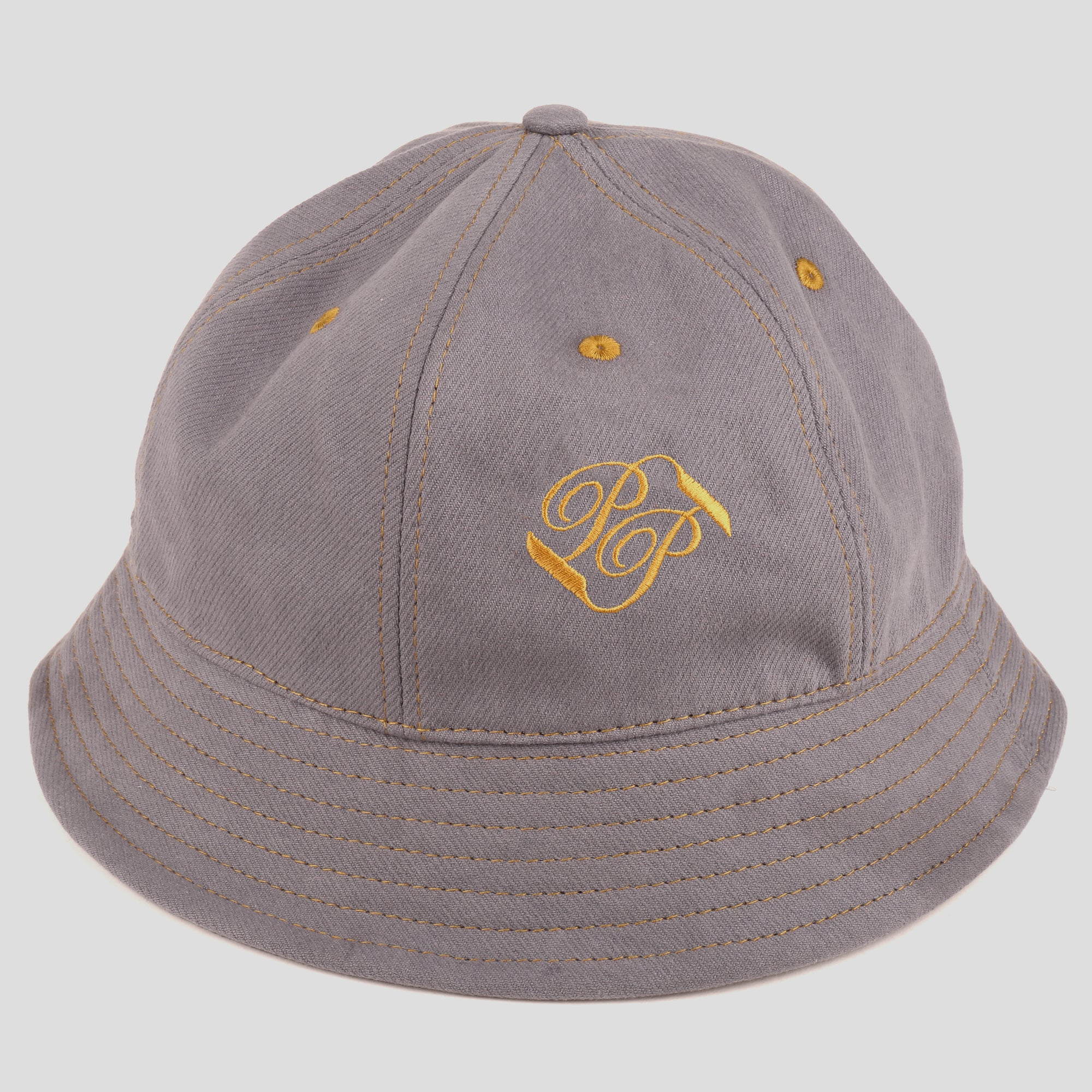 "PASS~PORT ""BANNER"" BUCKET HAT STEEL GREY"