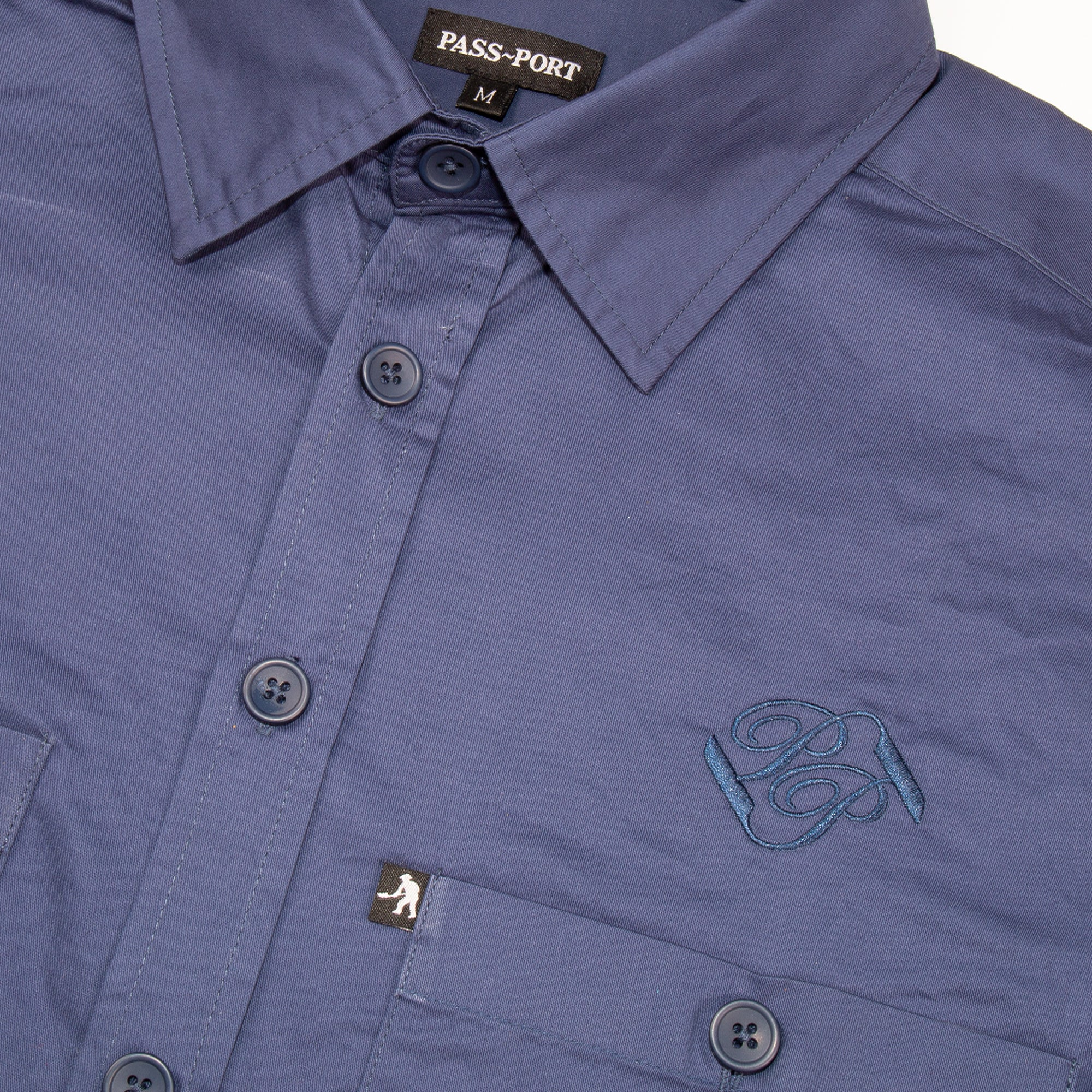 "PASS~PORT ""WORKERS BANNER"" S/S SHIRT FRENCH NAVY"