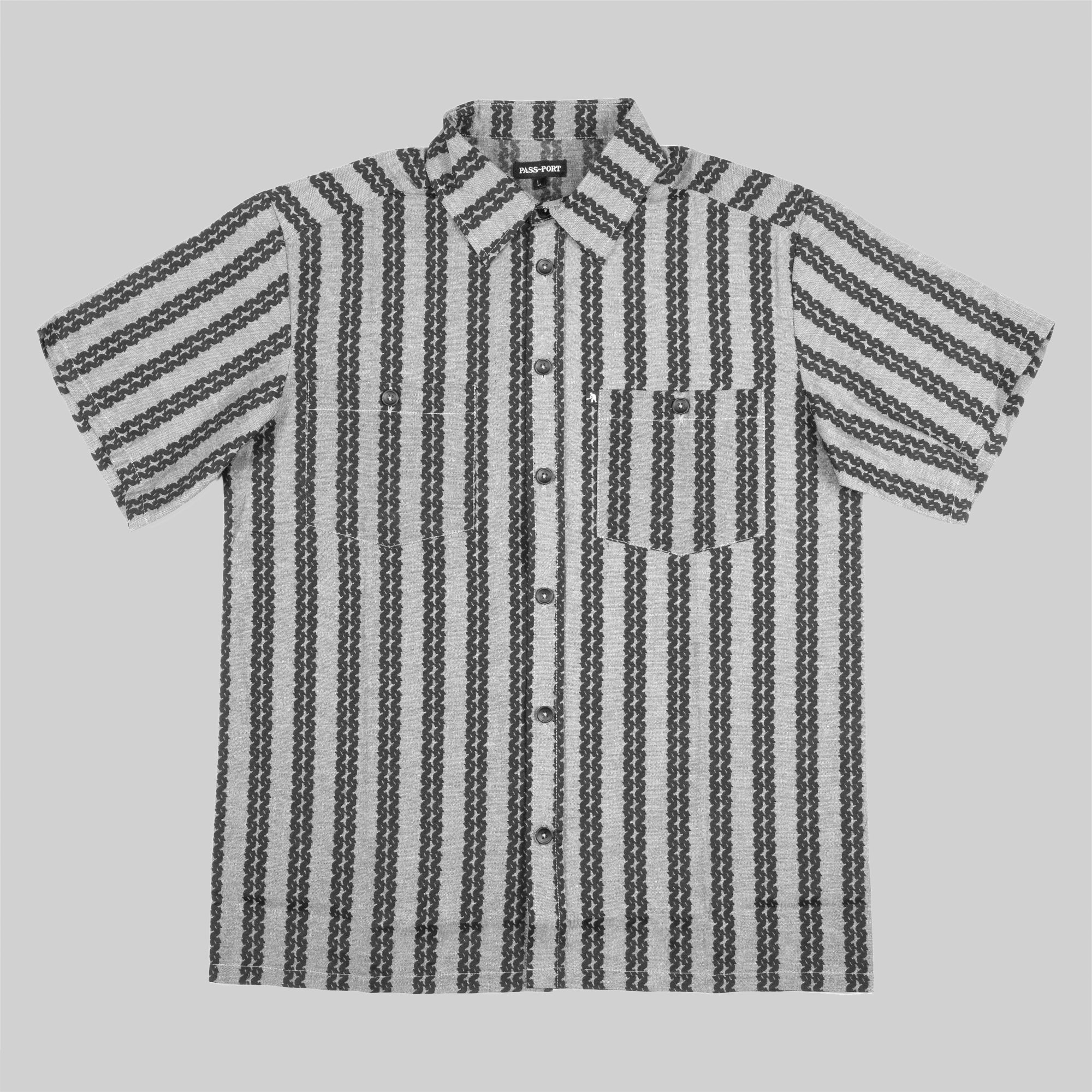 "PASS~PORT ""BARBS"" S/S SHIRT GREY"