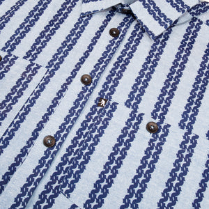 "PASS~PORT ""BARBS"" S/S SHIRT NAVY"