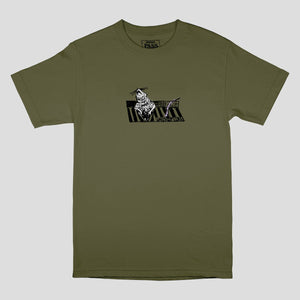 "PASS~PORT ""RATTO"" TEE MILITARY GREEN"