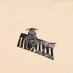 "PASS~PORT ""RATTO"" TEE CREAM"