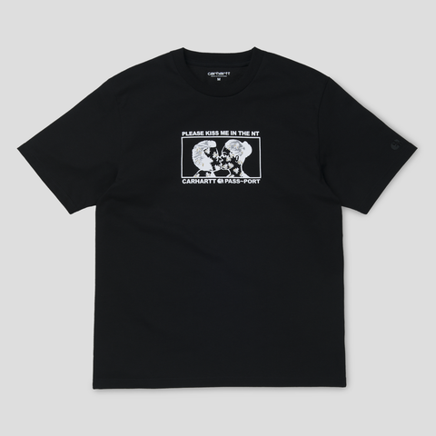 CARHARTT WIP & PASS~PORT GOOD~BYE TEE BLACK