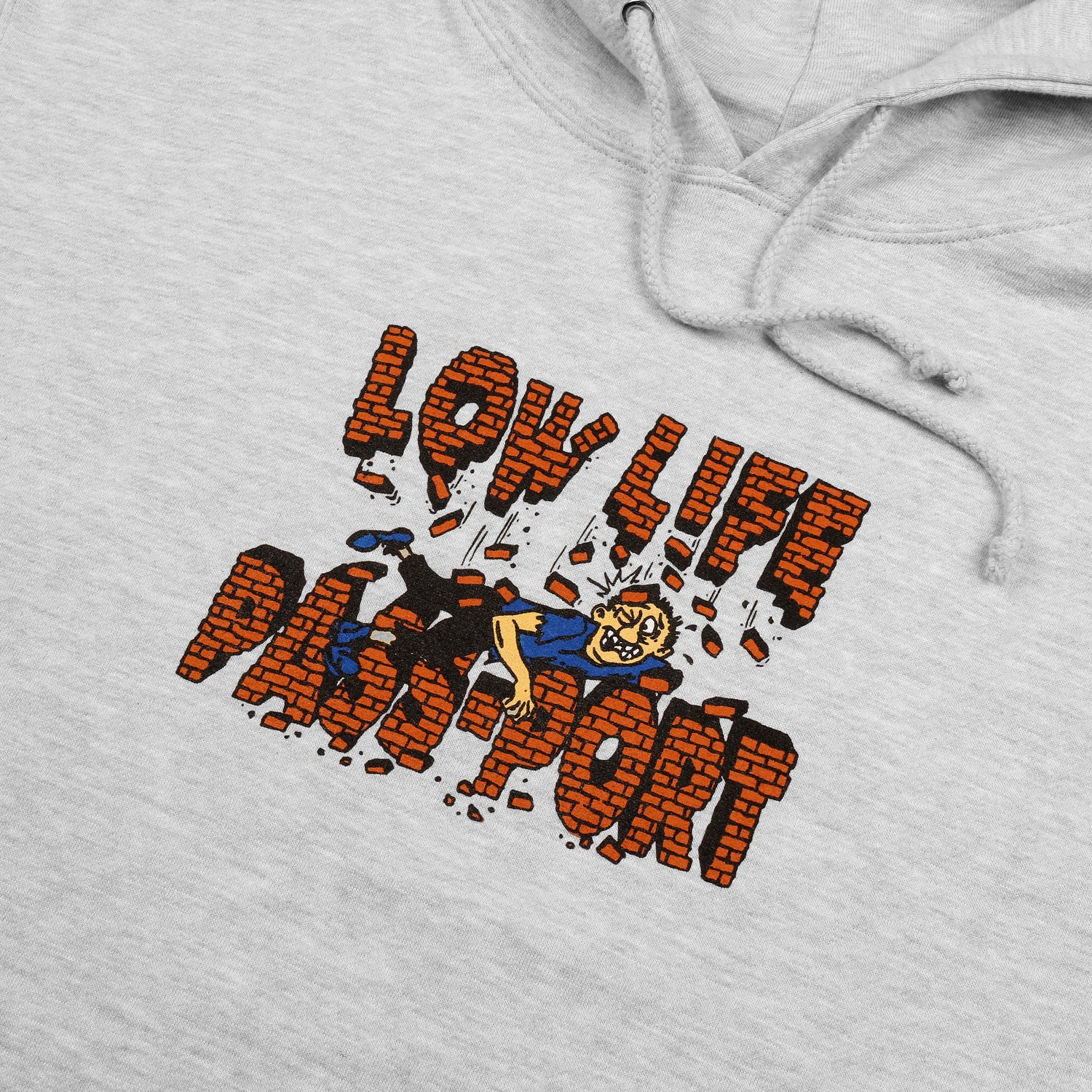 "PASS~PORT LOW LIFE ""BRICK"" HOOD GREY HEATHER"