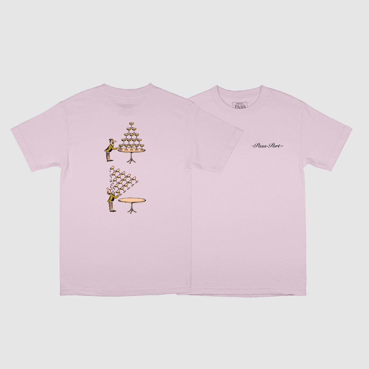 "PASS~PORT ""CHAMPERS"" TEE PINK"