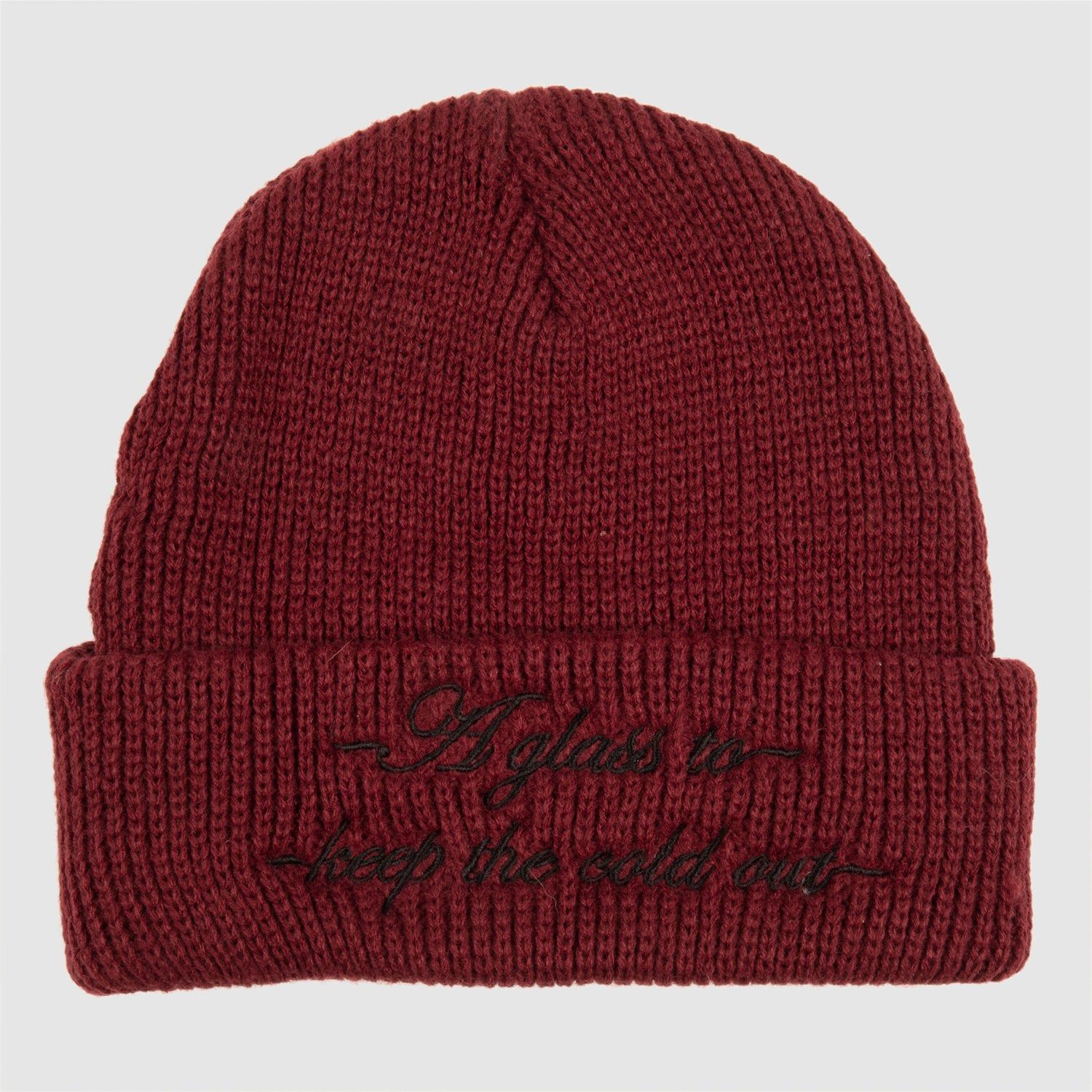 "PASS~PORT ""COLD OUT"" BEANIE BURGUNDY"