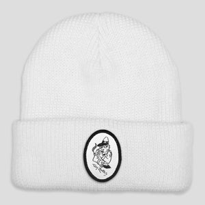 "PASS~PORT TOBY ZOATES ""COPPERS"" BEANIE WHITE"