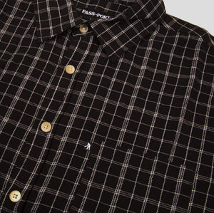 "PASS~PORT ""CROSS CHECK"" L/S SHIRT BLACK"