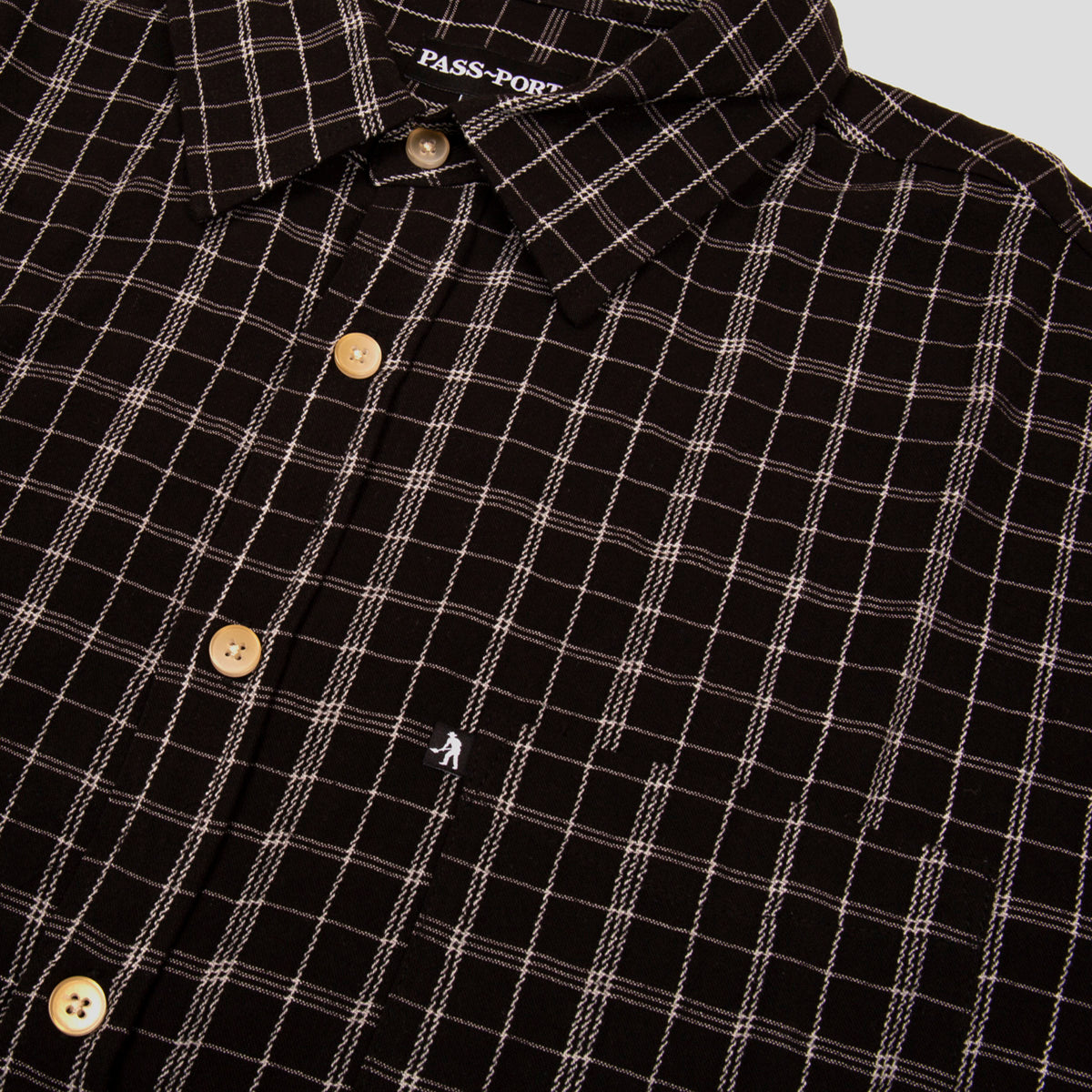 "PASS~PORT ""CROSS CHECK"" S/S SHIRT BLACK"