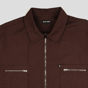"PASS~PORT ""DELIVERY ZIP UP"" JACKET BROWN"