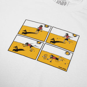 "PASS~PORT ""SHADY SHADOWS"" TEE WHITE"
