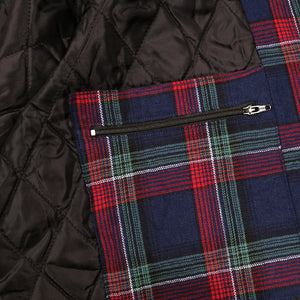 "PASS~PORT ""LATE QUILTED FLANNEL"" JACKET NAVY"