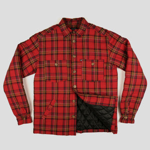 "PASS~PORT ""LATE QUILTED FLANNEL"" JACKET RED"