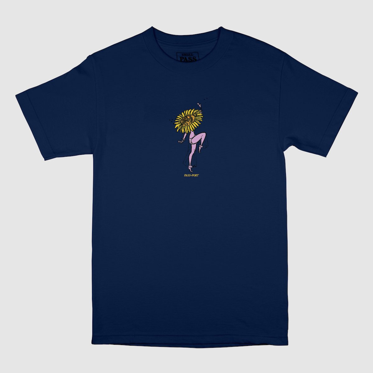 "PASS~PORT ""FLORAL DANCER"" TEE NAVY"
