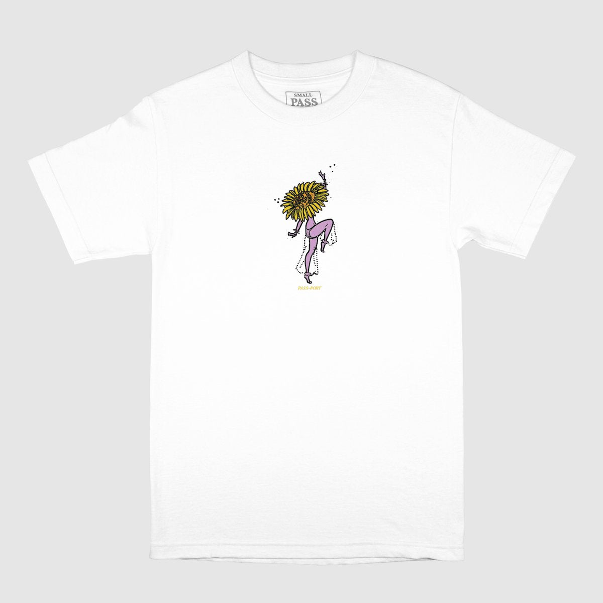 "PASS~PORT ""FLORAL DANCER"" TEE WHITE"