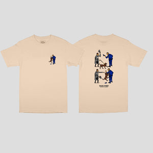 "PASS~PORT ""FRIENDLY K9"" TEE SAND"