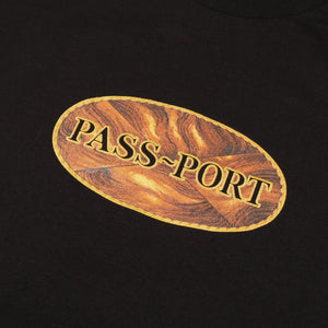 "PASS~PORT ""INLAY"" TEE BLACK"