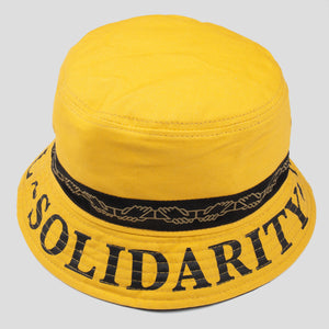 "PASS~PORT ""INTER SOLID"" REVERSABLE BUCKET HAT MUSTARD"