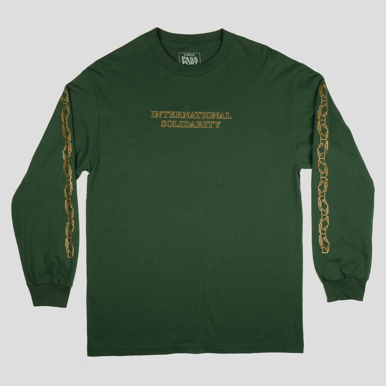 "PASS~PORT ""INTER SOLID"" L/S TEE FOREST GREEN"