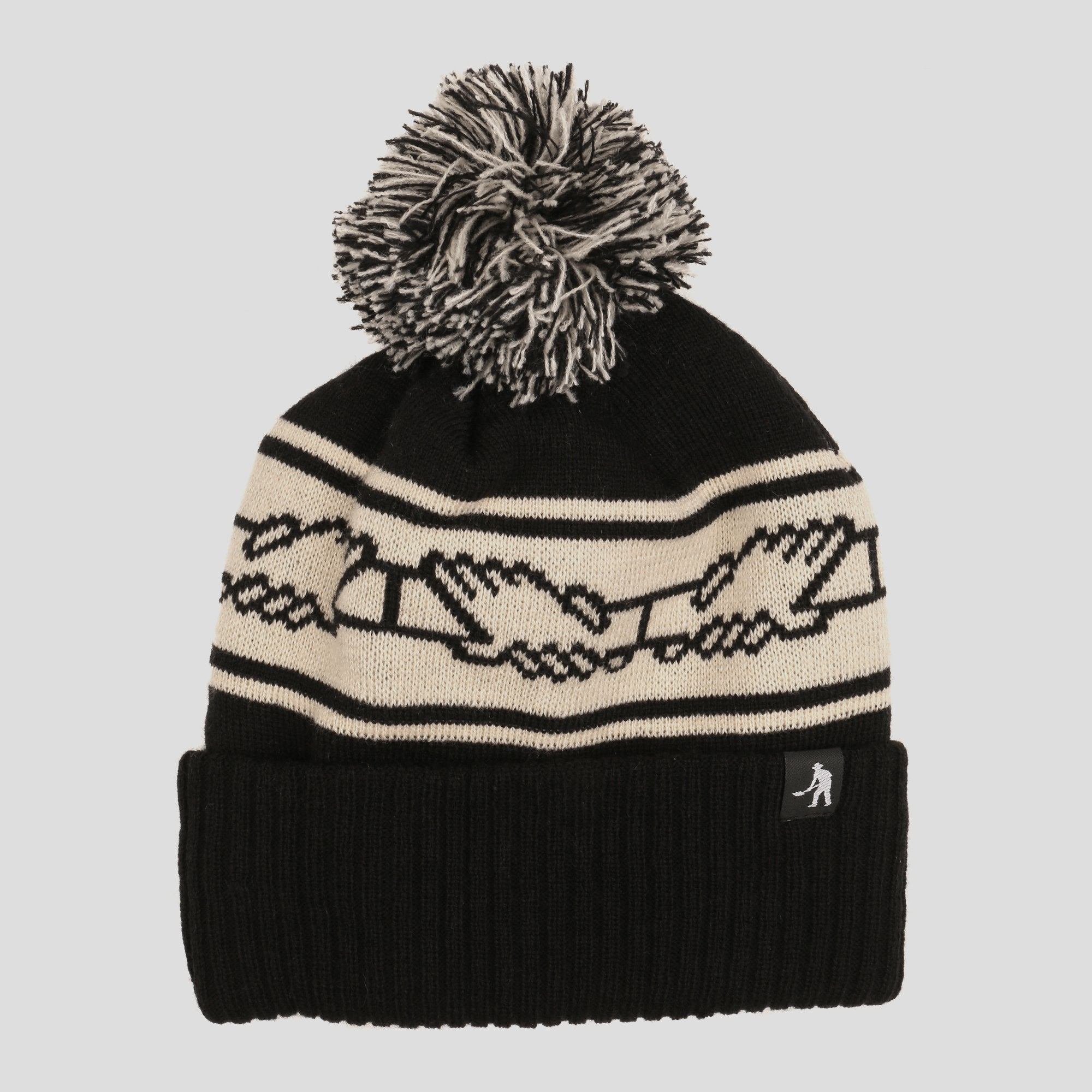 "PASS~PORT ""INTER SOLID"" POM BEANIE BLACK"