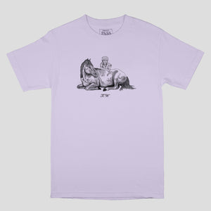 "PASS~PORT ""K.W TRIBUTE"" TEE LAVENDER"