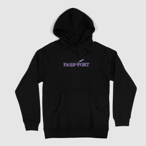 "PASS~PORT ""LAVENDER"" HOOD BLACK"