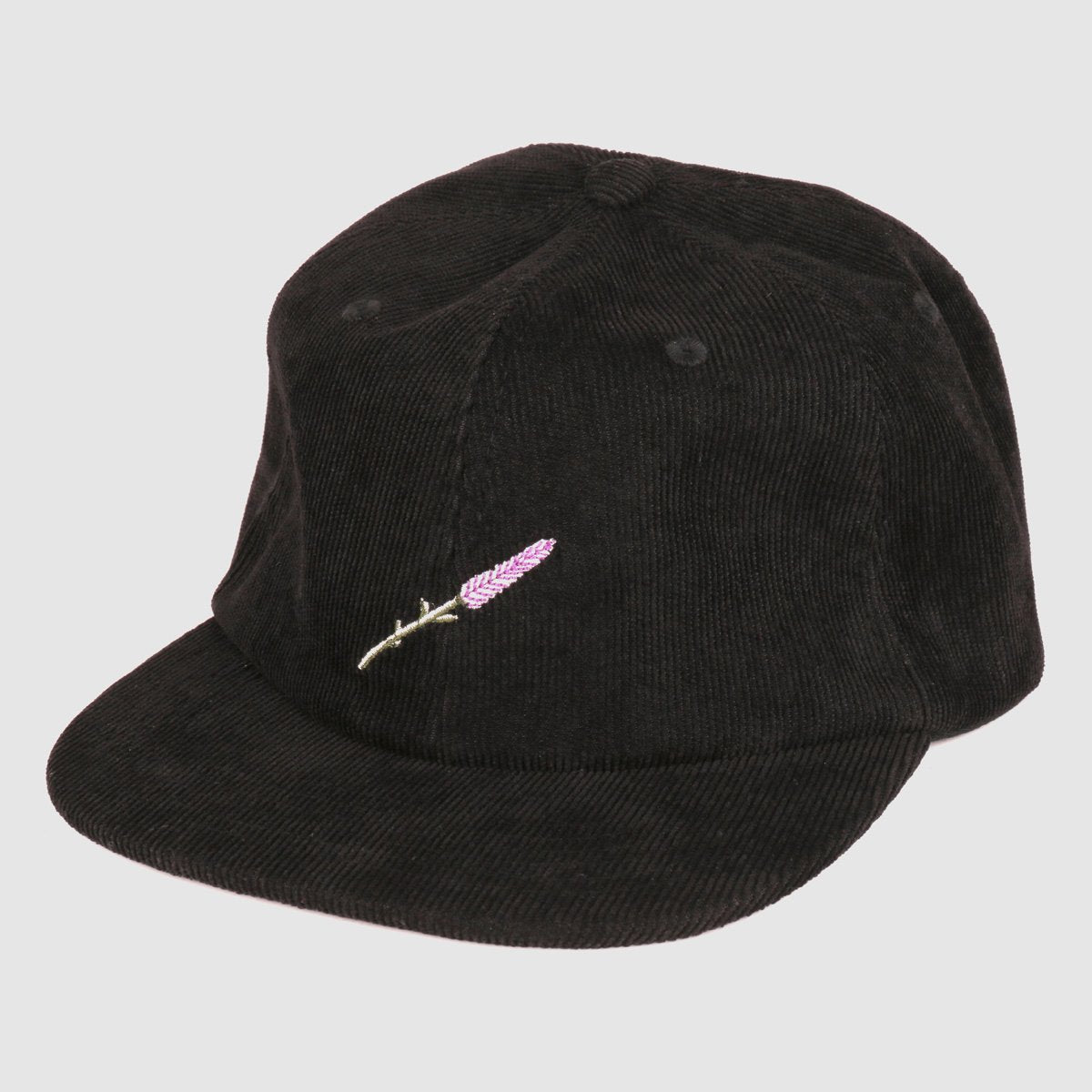"PASS~PORT ""LAVENDER"" 6 PANEL CAP BLACK"