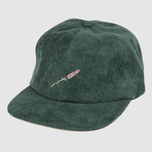 "PASS~PORT ""LAVENDER"" 6 PANEL CAP DARK TEAL"