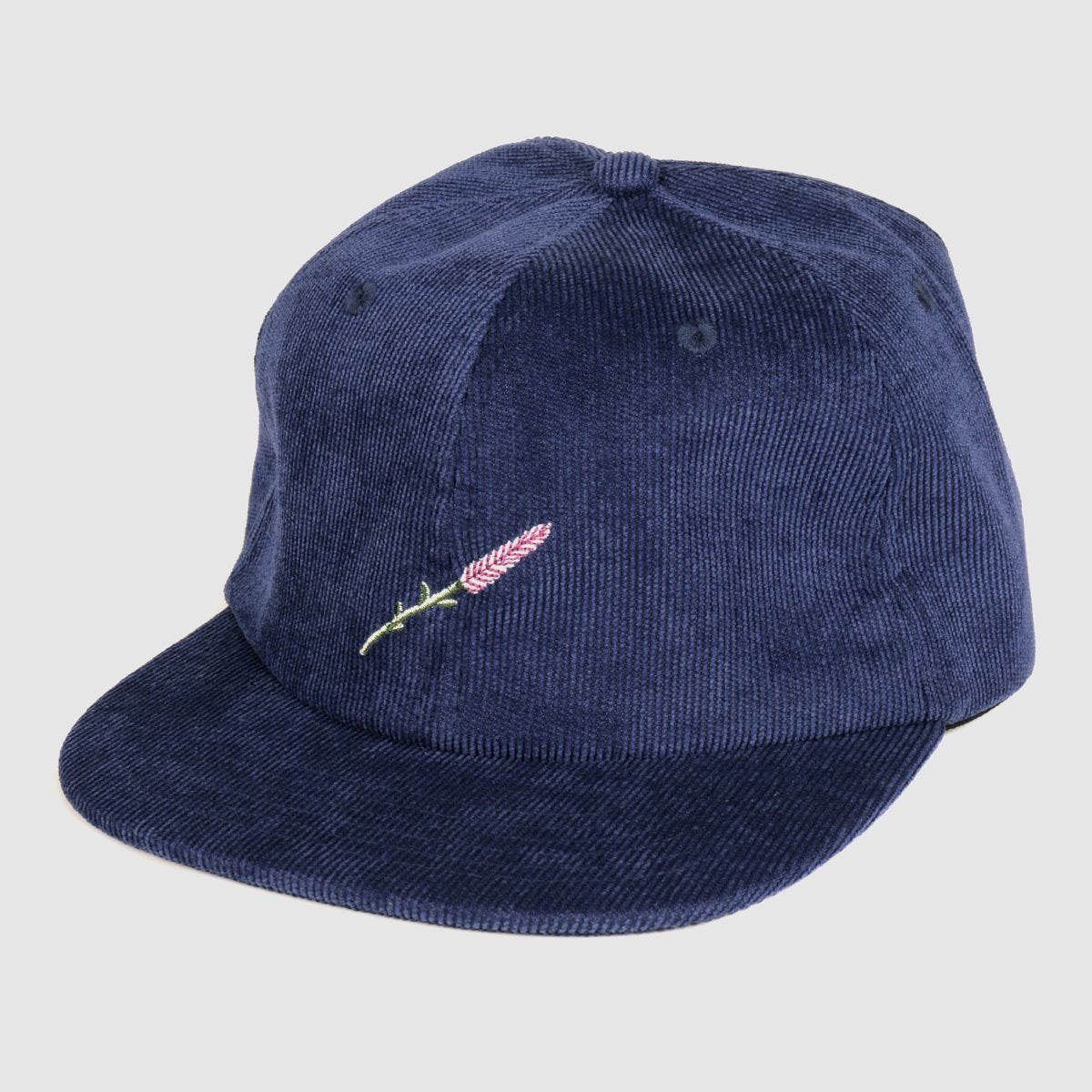 "PASS~PORT ""LAVENDER"" 6 PANEL CAP NAVY"