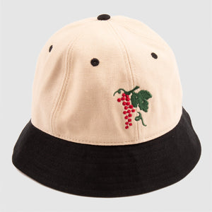 "PASS~PORT ""LIFE OF LEISURE"" BUCKET HAT NATURAL/BLACK"