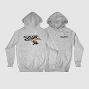 "PASS~PORT ""MIRROR MAN"" HOOD HEATHER GREY"