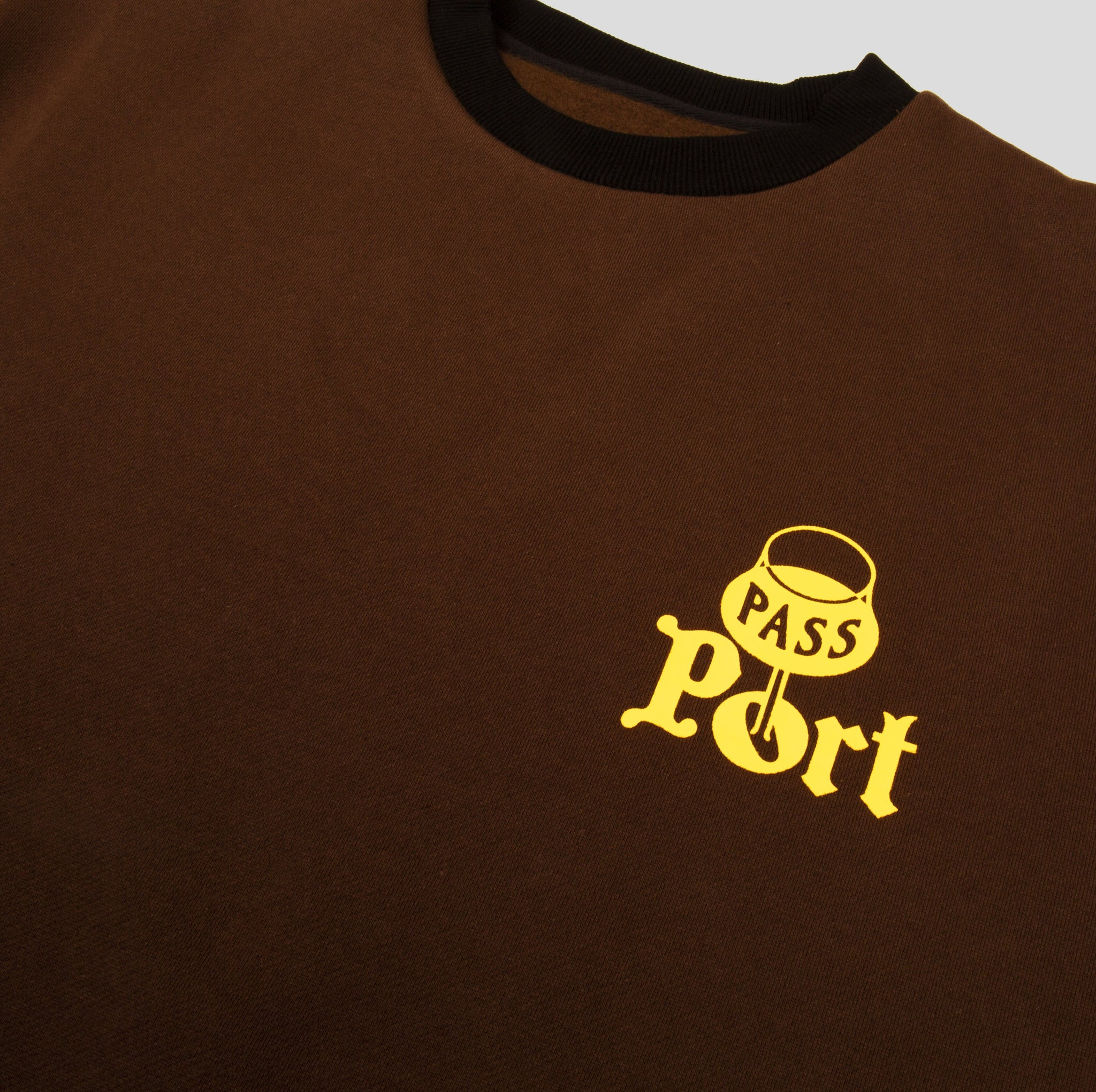 "PASS~PORT ""PORT"" STEPH SWEATER BROWN"