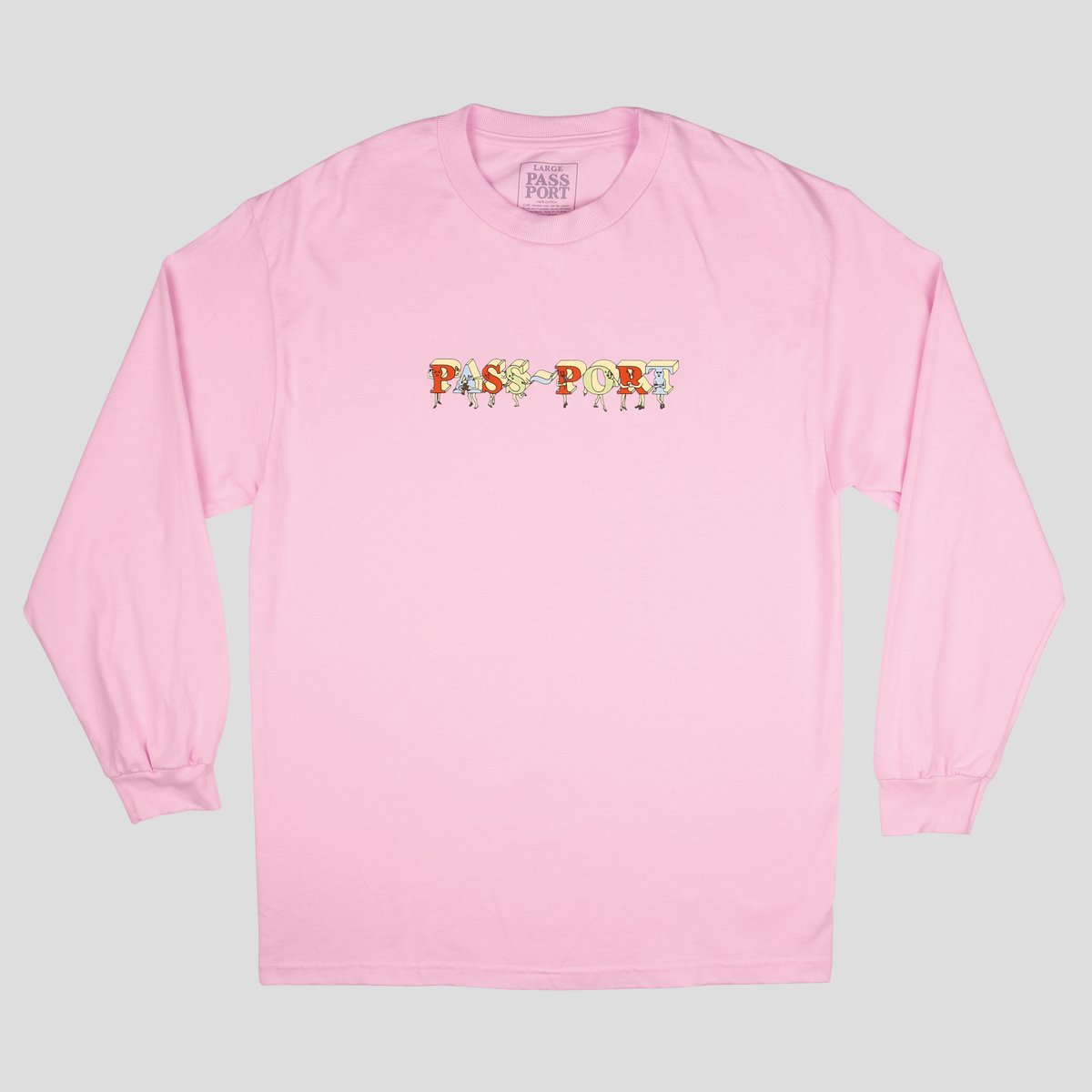 "PASS~PORT ""PP GANG"" L/S TEE PINK"