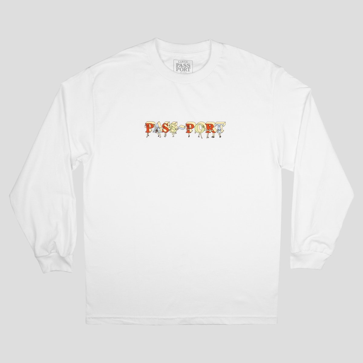 "PASS~PORT ""PP GANG"" L/S TEE WHITE"
