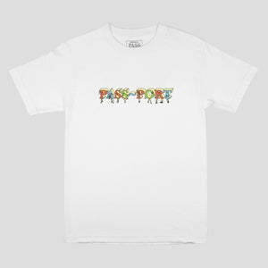 "PASS~PORT ""PP GANG"" TEE WHITE"