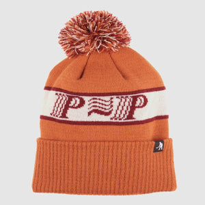 "PASS~PORT ""PPP~PPP"" POM POM BEANIE ORANGE"