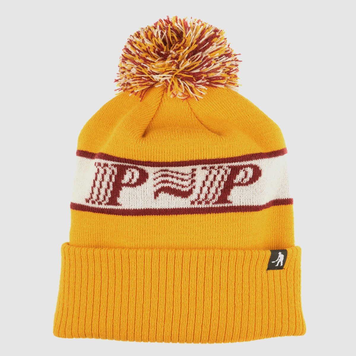 "PASS~PORT ""PPP~PPP"" POM POM BEANIE YELLOW"