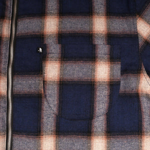 "PASS~PORT ""QUILTED FLANNEL"" ZIP JACKET NAVY"