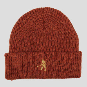 "PASS~PORT ""WORKERS"" BEANIE BURNT ORANGE"