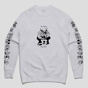 "PASS~PORT TOBY ZOATES ""COPPERS"" SWEATER WHITE"