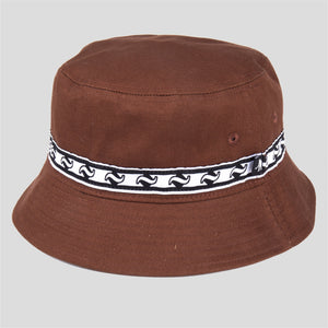 "PASS~PORT ""TILDE BAND"" BUCKET HAT BROWN"
