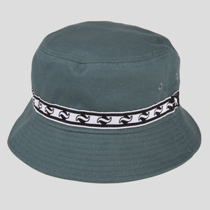 "PASS~PORT ""TILDE BAND"" BUCKET HAT MOSS"