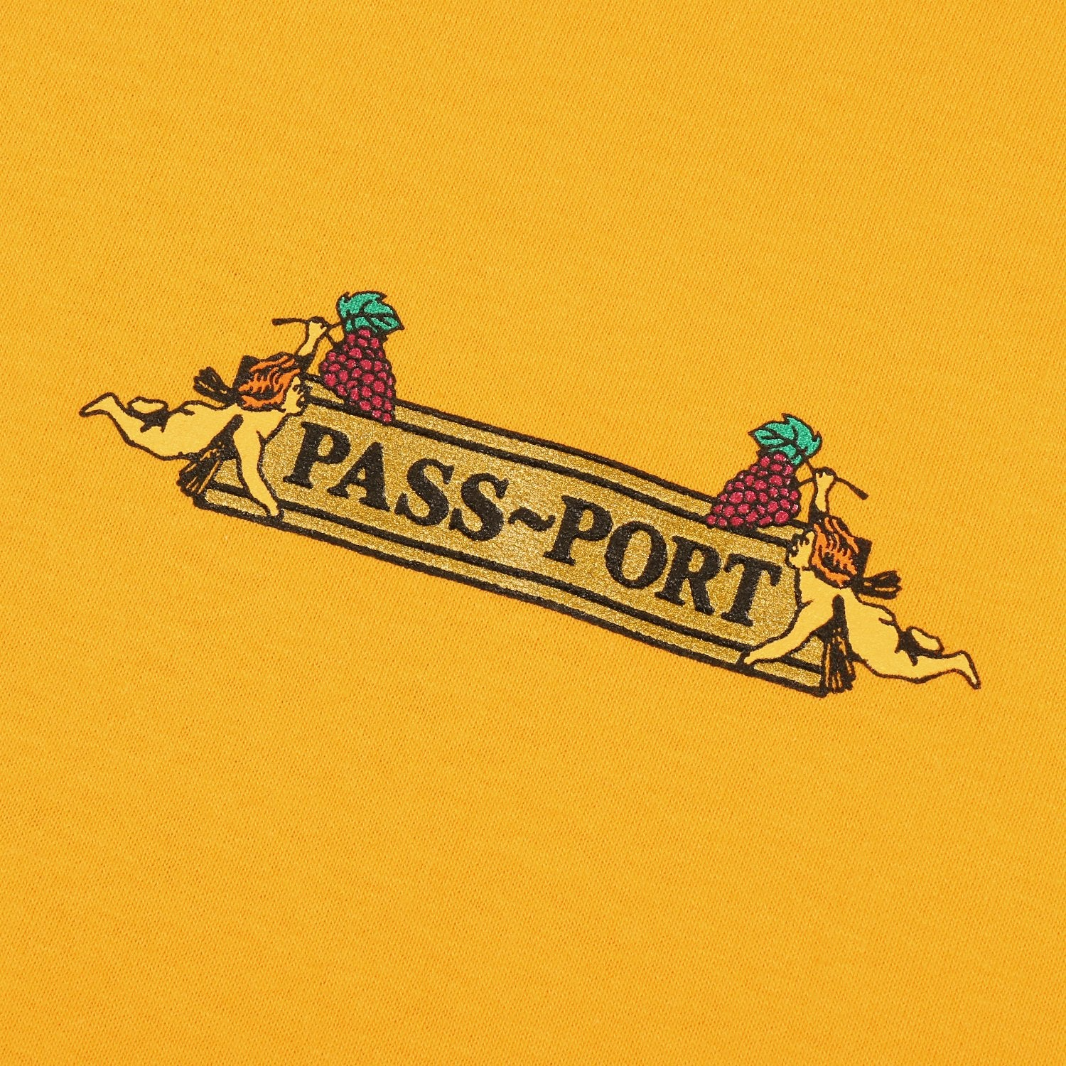 "PASS~PORT ""TRICKLE DOWN"" TEE GOLD"