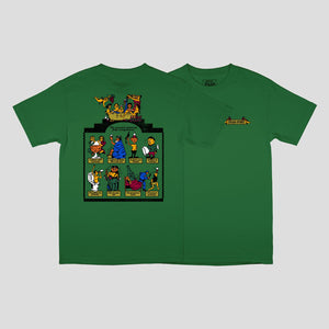 "PASS~PORT ""TRICKLE DOWN"" TEE KELLY GREEN"