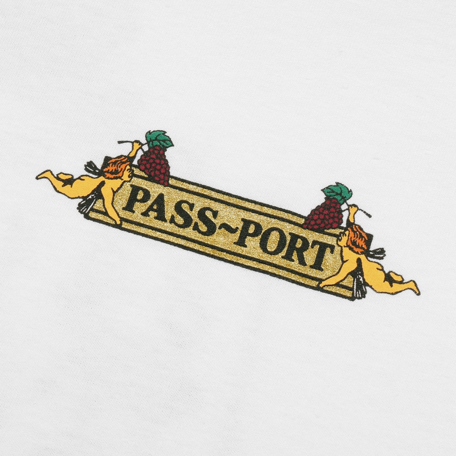 "PASS~PORT ""TRICKLE DOWN"" TEE WHITE"