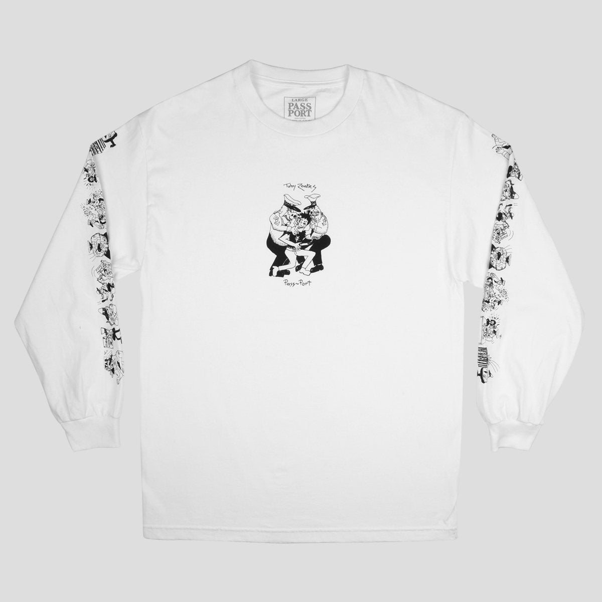 "PASS~PORT TOBY ZOATES ""COPPERS"" L/S TEE WHITE"