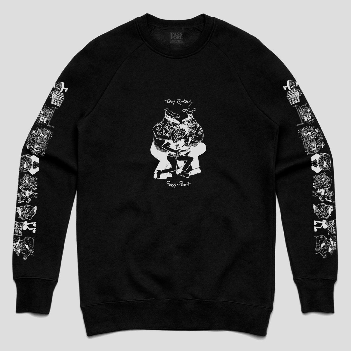 "PASS~PORT TOBY ZOATES ""COPPERS"" SWEATER BLACK"